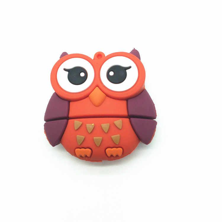new arrival 4GB 8GB 16GB 32GB 64GB pendrive silicone Mini Owl usb flash drive Pen drive Memory stick lovely U Disk top Quality