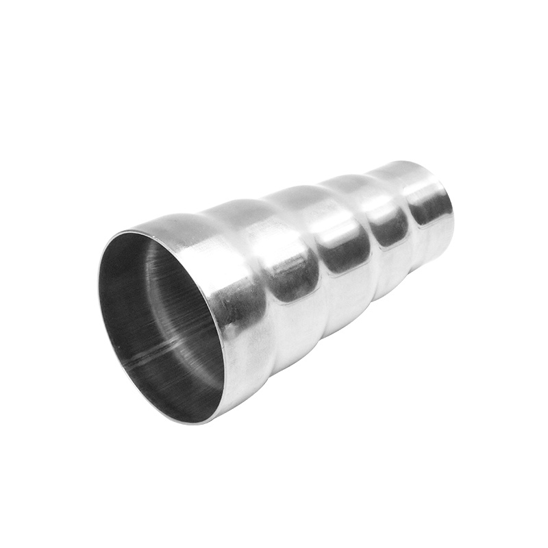 201 Stainless Steel  Universal  Weldable Exhaust 5 Step Reducer Adapter Connector Tube Pipe Cone