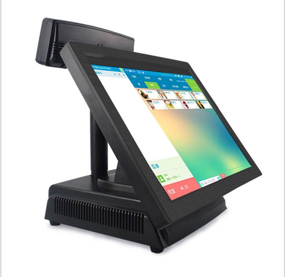 Hot Sale  15 Inch All In One Touch Screen Pos System With English Software With 2G Ram ,32G SSD