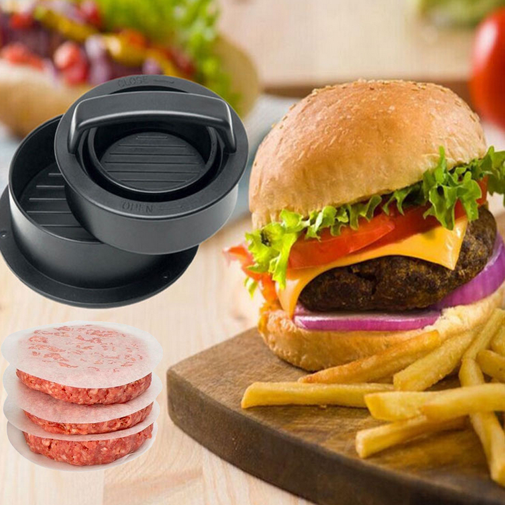 Meat Pie Press Stuffed Burger Press Hamburger Mold Maker with Baking Paper Liners Patty Pastry Tools BBQ Accessories (7)