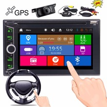 Wireless Rear Camera + EinCar Double Din Car DVD Player in Dash GPS Navigation 2 Din Autoradio Bluetooth FM/AM Radio Tuner Car D