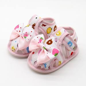 Shoes Kids Toddlers Baby-Girls Summer Bow Bowknot Cute 8M 0-18M Skid-Proof Soft-Sole