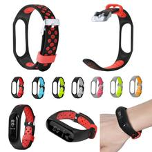 Wrist Strap Bracelet Silicone Smart Wristband Ventilate Waterproof Metal Buckle Sport Replacement Accessories for Xiaomi Mi Band(China)