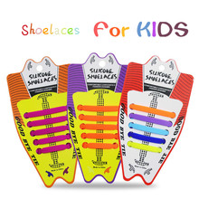 10pcs/lot Childrens Shoelaces Creative Slacker Silicone No-Tied Free Wash Elastic Hammer Shoe Accessoires for Kids Lace