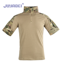 Frog Clothing Short Sleeve Outdoor Training Camouflage Military Uniform Camping Hiking Sports and Leisure Equipment Clothing kryptek mandrake frog fighting suit police frog uniforms army trainning uniform set one long sleeve shirt and one tactical pant