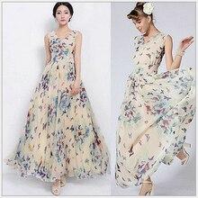 The New Summer Women s Clothing Brand Ladies Fashion Leisure Women Chiffon Floral Dress Beach Dress