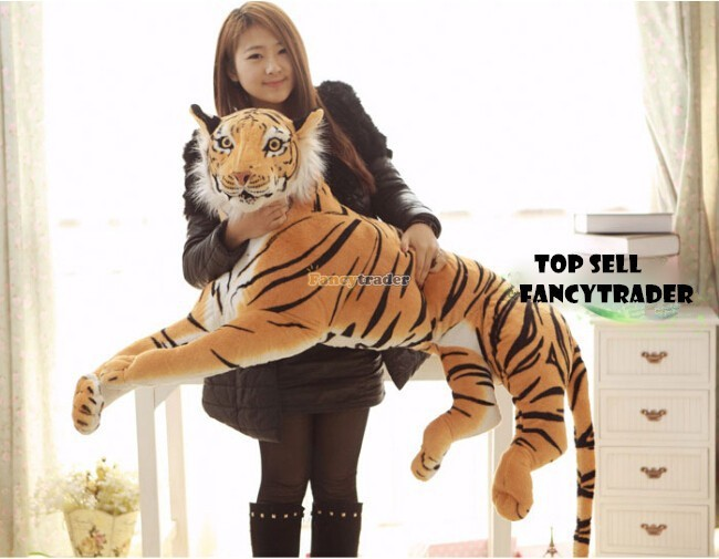 Fancytrader 51\'\'  130cm Giant Stuffed Emulational Tiger, 2 Colors Available, Free Shipping FT90241 (1)