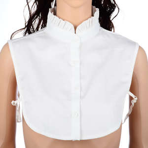 Tie Shirt Blouse Detachable-Collar Women Clothes Female And Q1185