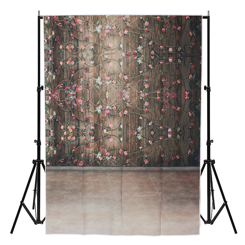 3x5ft Vinyl photography Background Retro Flower For Studio Photo Props vinyl Photographic Backdrops cloth 1 mx 1.5M 12ft vinyl print cloth pink flower wall photography backdrops for photo studio portrait backgrounds photographic props f 1495