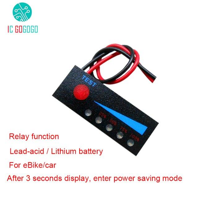 Indicador de capacidad de batería de litio 1S, 2S, 3S, 4S, 7S, 12V, 24V, 48V, módulo de pantalla de 3,7 V, 4,2 V, nivel de potencia Li ion/ácido de plomo