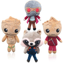 100 pcs 20 cm Brinquedos Peluches Anime Superhero Guardians Of the Galaxy mini Bonecas Brinquedos de Pelúcia(China)