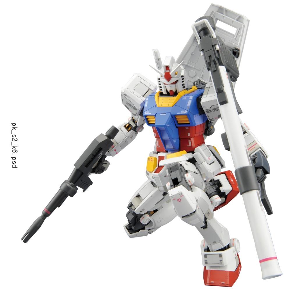 Bandai Gundam Original HG Japan Anime Action Figures Robot Toys Plastic Assembled Model 1:100 RX-78 bandai bandai gundam model sd q version bb 309 sangokuden wu yong bian xiahou yuan battle