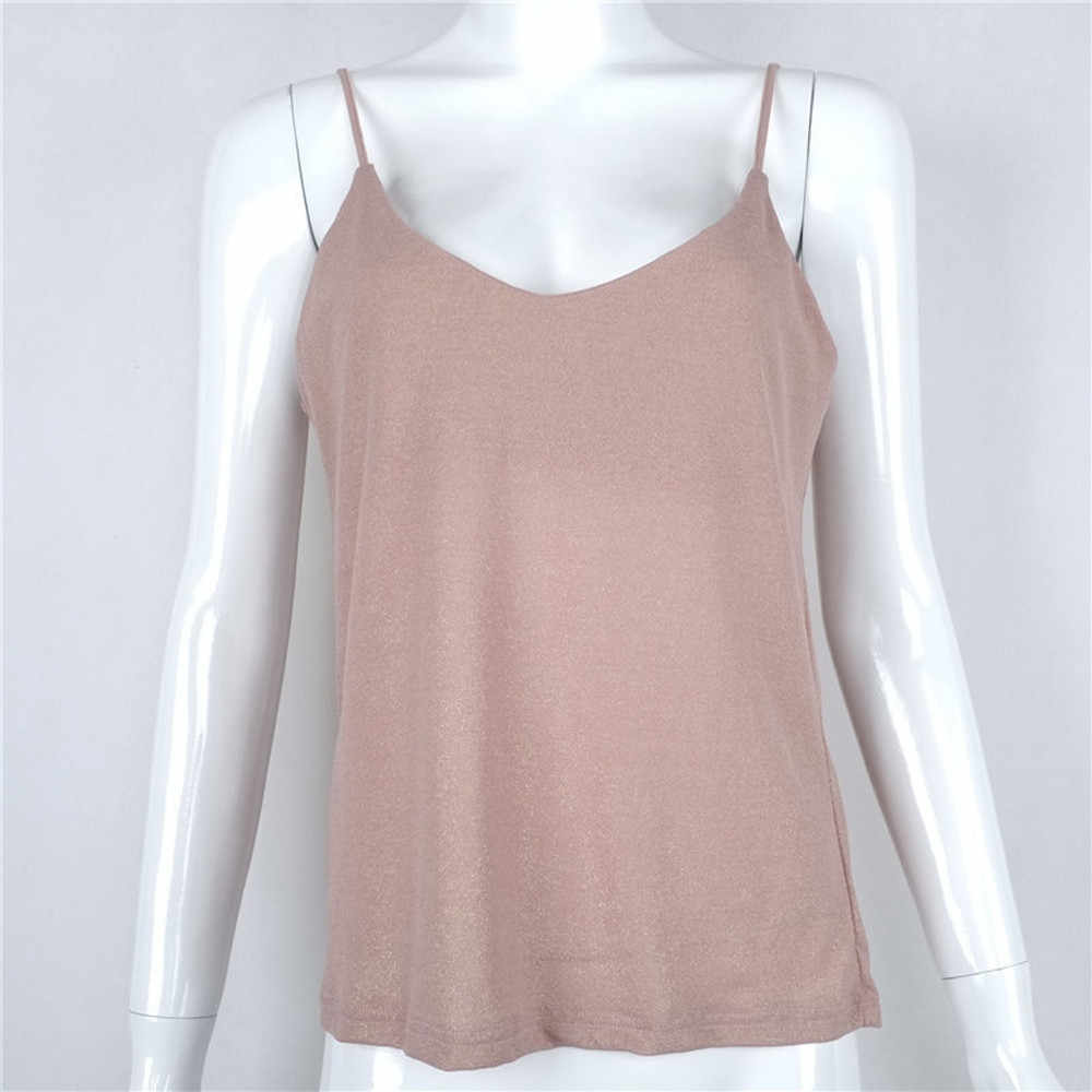 6d928731 ... Summer Women Solid t shirts Sexy Tops Vest girl V Neck crop tops Strap  ropa mujer ...
