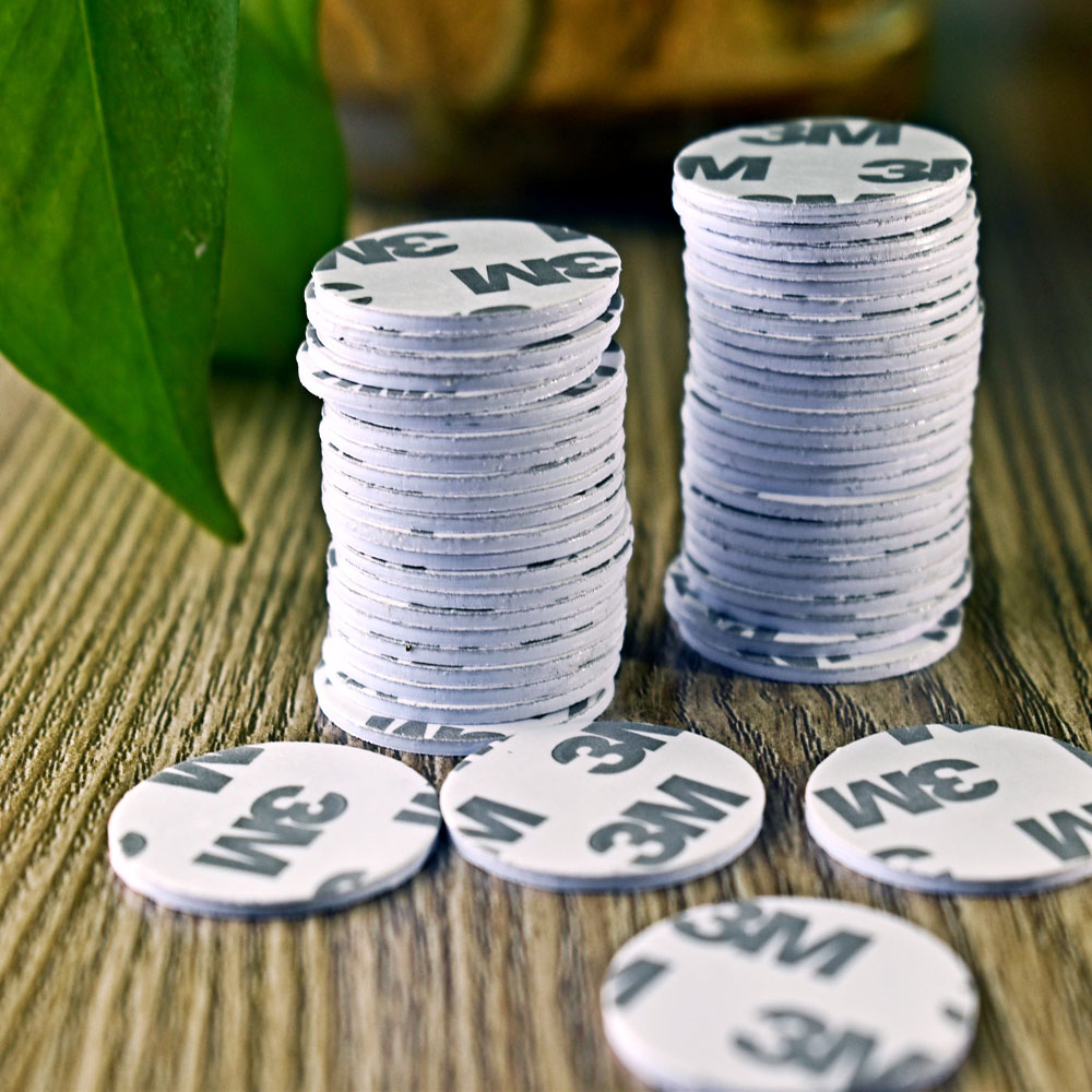 25mm 13.56Mhz NFC 3M Sticker Adhesive Coin Cards Tags Ntag213  PVC Waterproof For All NFC Phones