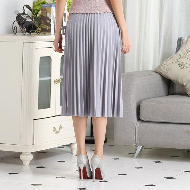 Mini Cintura Alta Falda de Gasa Verano Delgado Plisado de Pliegue de la  Falda A Media pierna Delgada Casual Mujeres Faldas FCSK8017 en Faldas de La  ropa de ... b29ddca1024b