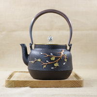 Hot Sale 1200ML Handmade Cast Iron Kettle Carbon Furnace Cast Iron Pot Kung Fu Pu'er Teapot Oxidized Uncoated Free Shipping