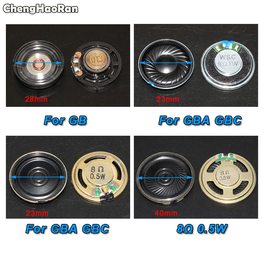 ChengHaoRan Replacement 23mm 28mm 40mm Loudspeaker For Nintendo GameBoy Color Advance For GBA GBC GB DMG-01 Speaker