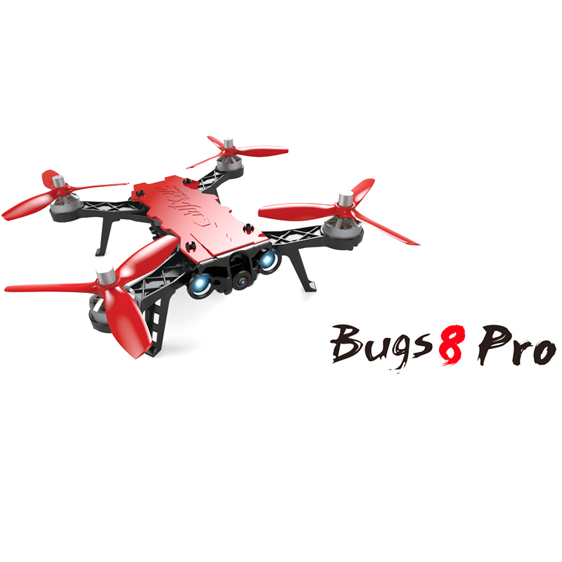 где купить New MJX Bugs 8 Pro B8PRO Racing High Speed Brushless Motor RC Drone With 5.8G HD 720P Camera RC Helicopter Traversing Machine дешево