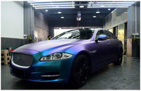 60'' Wide Pearl Glossy Chameleon Vinyl Sticker Purple Blue Vinyl Car Wrap Film With Air Bubble Styling Color Changing Film