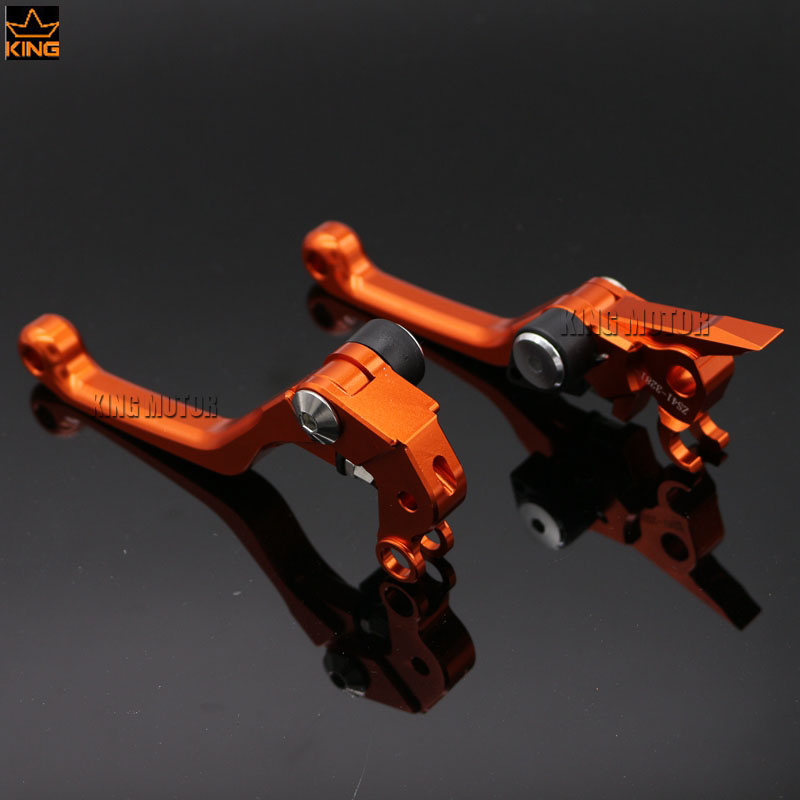 For KTM 450 XCR-W/EXC/EXC-R/SX/SX-F/SX-R/XC/XC-F Motocross Dirt Bike CNC Billet Aluminum Pivot Brake Clutch Levers orange cnc billet factory oil filter cover for ktm sx exc xc f xcf w 250 400 450 520 525 540 950 990