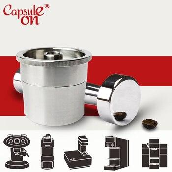 Capsulone/illy 커피 머신 메이커와 호환/illy cafe capsule에 적합한 스테인레스 스틸 금속 리필 가능 재사용 가능한 캡슐
