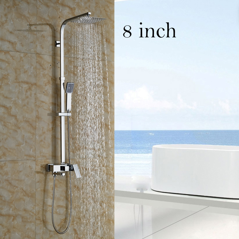 Several Sizes Shower Head Brass with ABS Hand Shower Bath Shower Faucet Chrome Finish