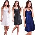 Nova ArrivalsQuality Real Camisola Princesa Sleepwear Sólida das Mulheres Com Decote Em V Pijamas Sleepdress femininos Camisolas S-2XL MP39