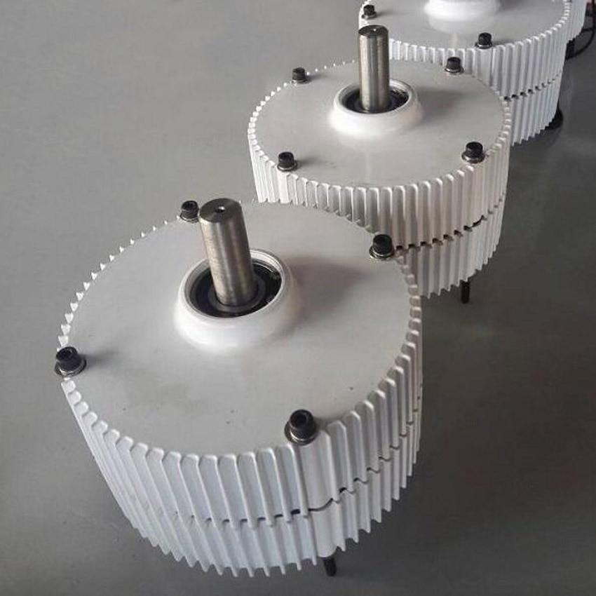 Générateur ac à aimant Permanent sans brosse 12 V 24 V 48 V 300 W avec Base, 600 tr/min et faible couple de démarrage PMG - 4