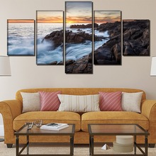 Coast Landscape HD Print Wall Art Canvas Painting Modern Home Canvas Wall Art For Living Room Painting Home Decor Picture urban hd print wall art canvas painting modern home canvas wall art for living room painting modern decor home decor picture