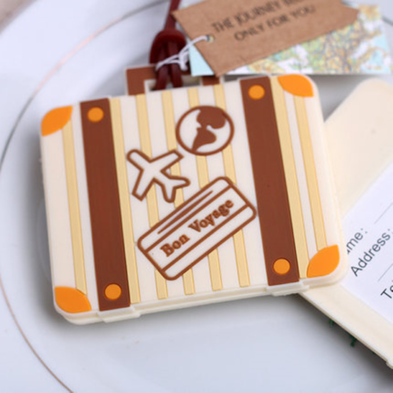 Plane card Let the Journey Begin Vintage Suitcase Luggage Tag 100pcs wedding bridal shower Favor party gifts