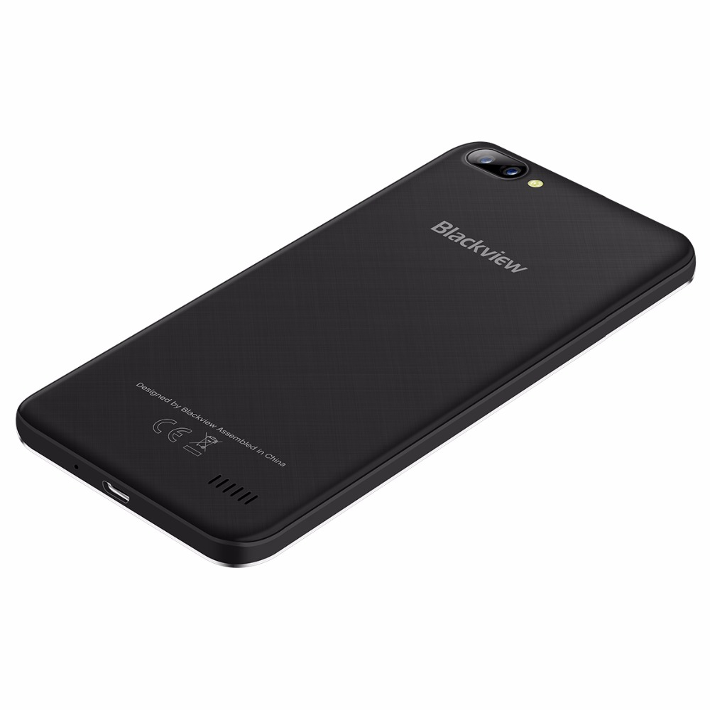 Free case Blackview A7 smartphone MTK6580A Quad Core 5.0inch IPS Android 7.0 Mobile Cell Phone 1GB RAM 8GB ROM 5MP+2MP+0.3MP GPS