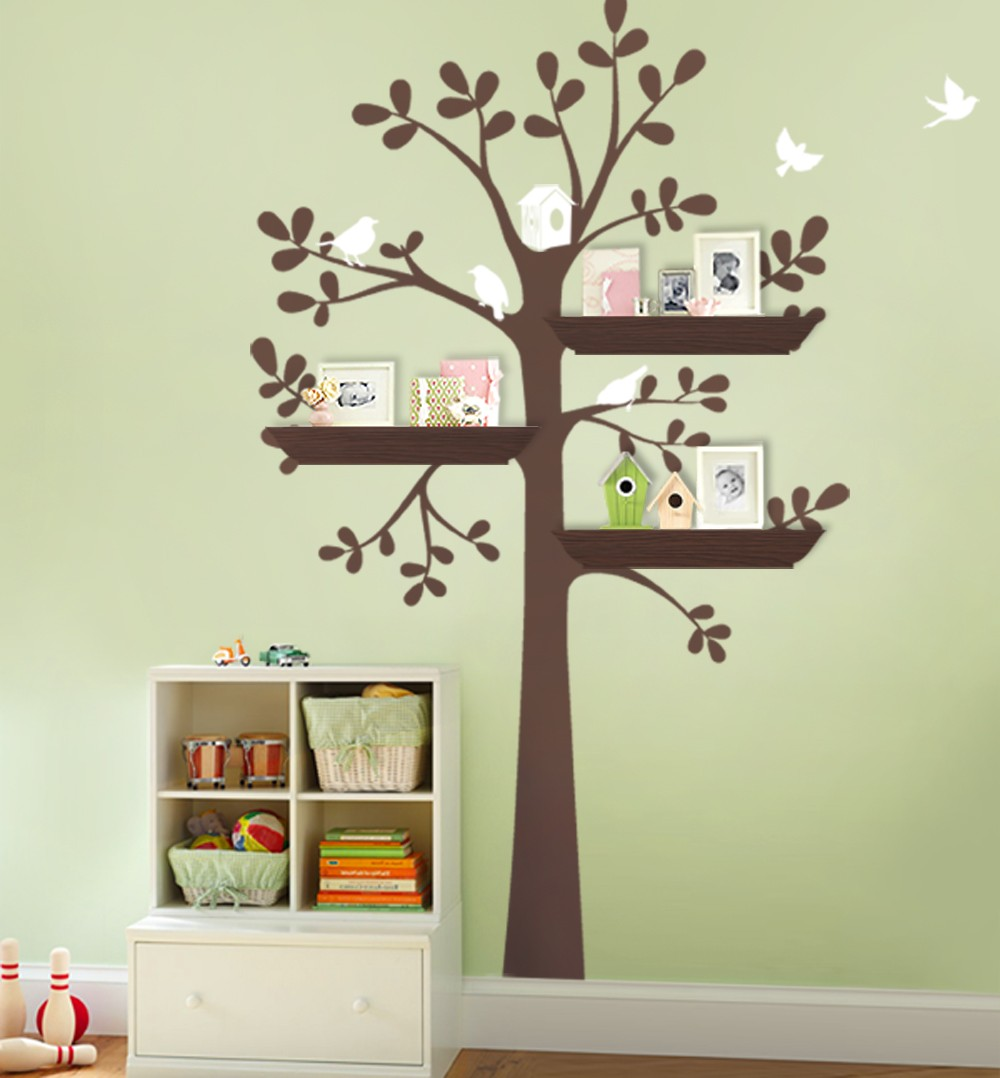 Us 24 88 15 Off Owl Birds Tree Wall Decal For Nursery Princess Bedroom Tattoo Large With Flowers Stickers A397 In