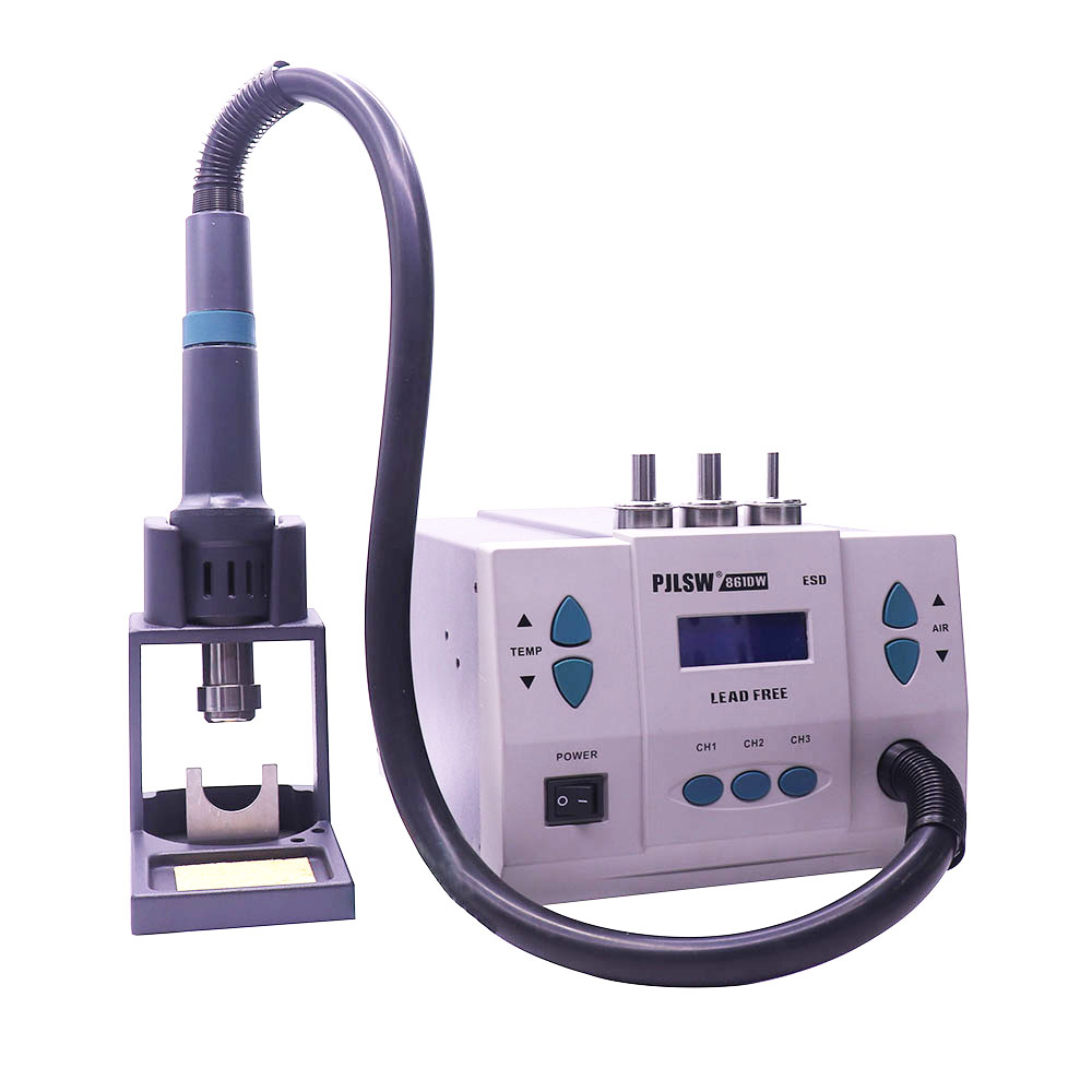 861DW lead free hot air gun soldering station Intelligent digital display 1000W rework station For PCB