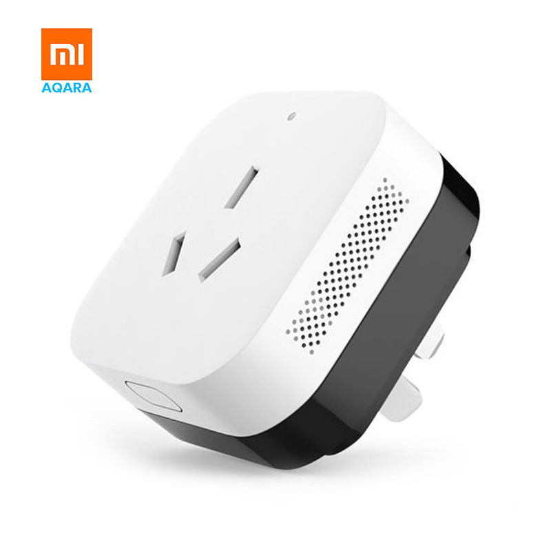 Aqara Mi Smart WiFi Socket Plug ZigBee Version Remote Control Air Conditioning Companion Work With Mi home APP original xiaomi mi smart wifi socket app remote control timer power plug power detection zigbee version