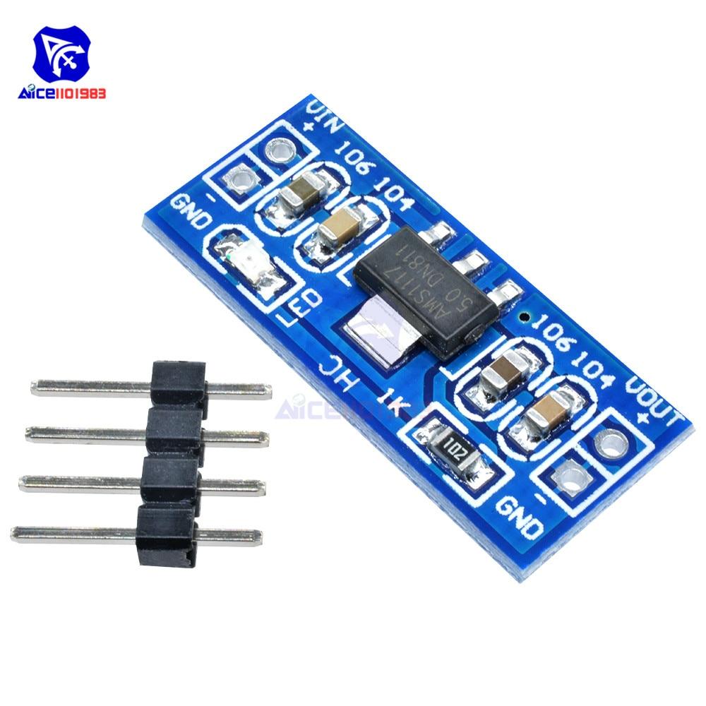 3 pcs DC 4.75-12V to 1.5V Step-Down Power Supply Module AMS1117 800MA