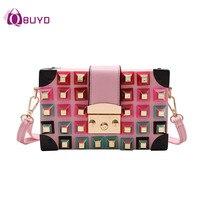 2018 Fashion Rivet Small PU Crossbody Bags For Women S Famous Brand Designer Women Messenger Bag
