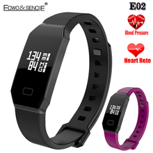 2017 Новый EDWO E02 Смарт Браслет Bluetooth 4.0 IP67 Водонепроницаемый Сердечного ритма Smartband Артериального Давления Oxygan Браслет Группа Здоровья