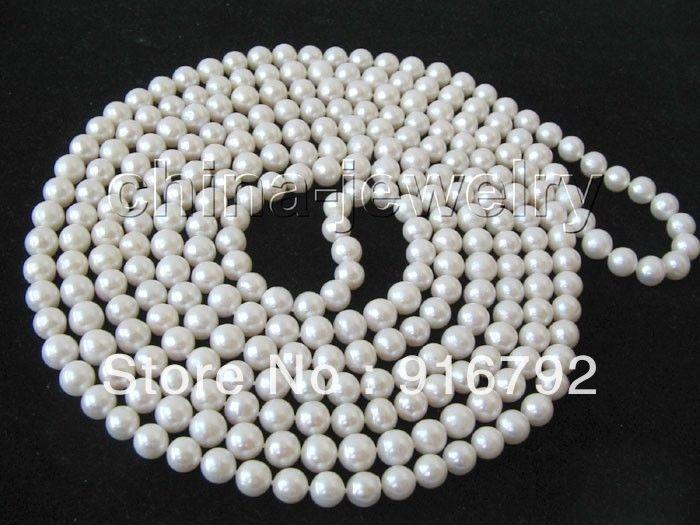 d5eb74543011 Envío libre al por mayor  AAAA 100 8-9mm natural blanco redondo FW collar  de perlas