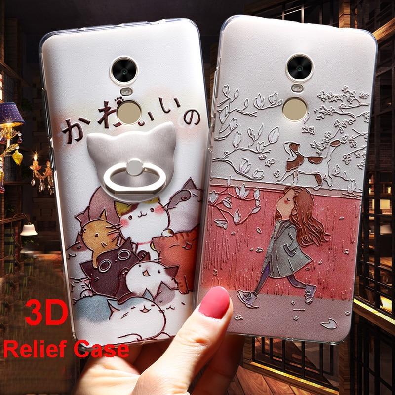 För Xiaomi Redmi Note 4 Fodral 3D Cartoon TPU Bakomslag Vpower För - Reservdelar och tillbehör för mobiltelefoner - Foto 1