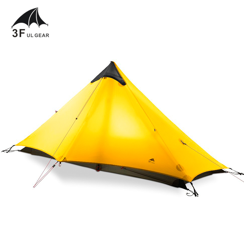Ultralight 15D Silicone Coated Single Person Tent 3 Season Camping