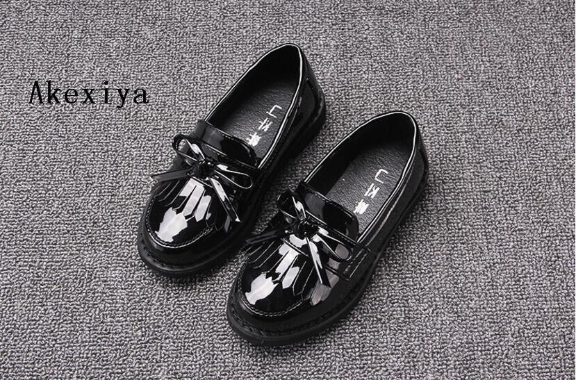 2018 primavera nuovi bambini di modo nappa scarpe casual ragazze Inghilterra stile scarpe arco scarpe per bambini