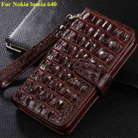 New Case For Microsoft Nokia Lumia 640 Cover Leather Luxury Flip Mobile Phone Wallet Case For