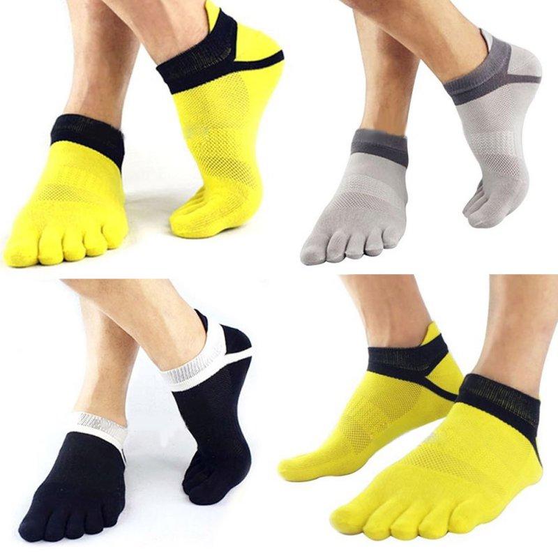 1 Paar Männer Junge 5 Finger Toe Kurze Socken Baumwolle Atmungsaktiv Knöchel Socke Entlastung Von Hitze Und Sonnenstich