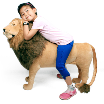 Dorimytrader Domineering Lion Stuffed Soft Toy Giant Simulated Animal Plush Gift Room Decoration Props 110cm 43inch DY60768 - discount item  10% OFF Stuffed Animals & Plush