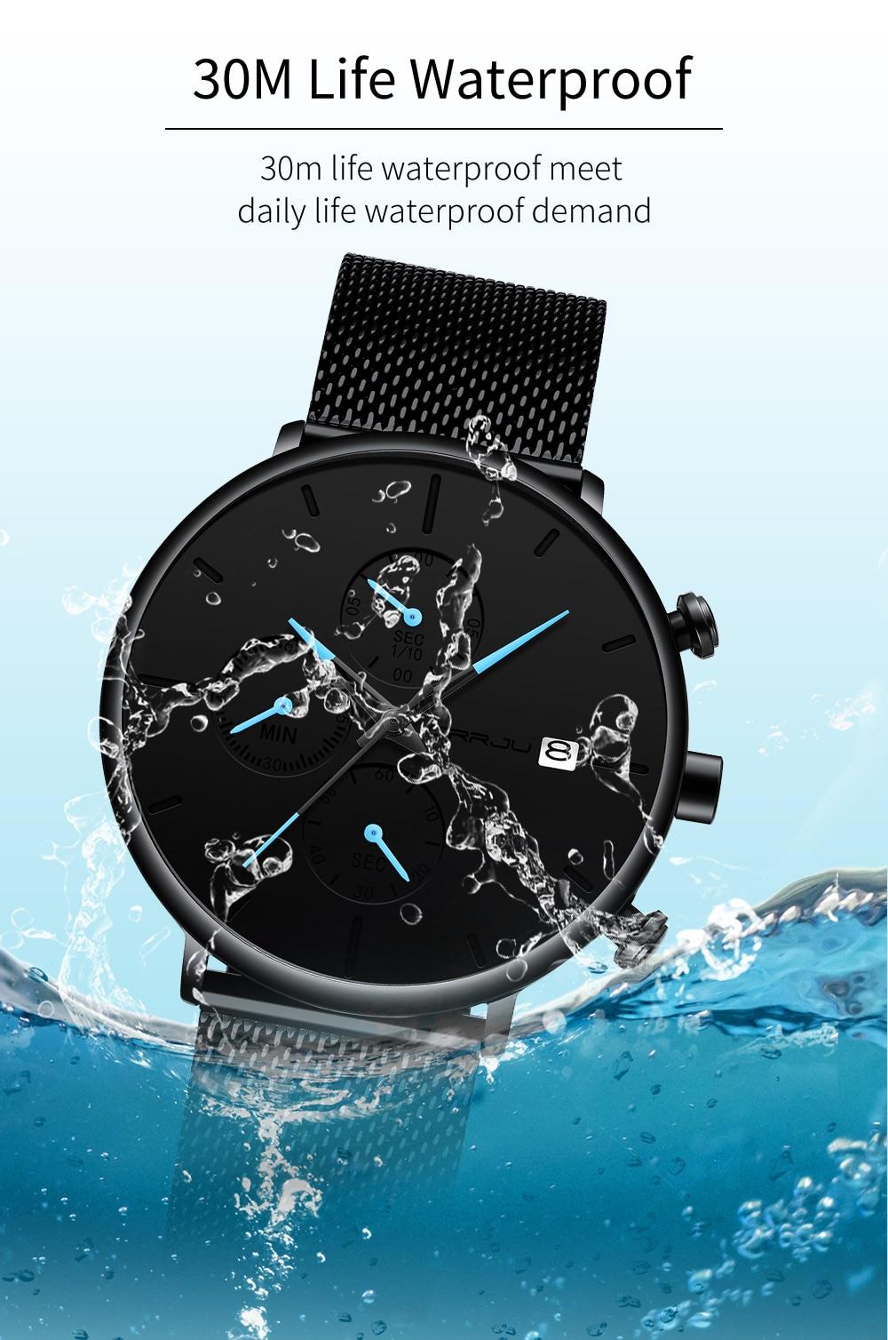 HTB1z7ceVrrpK1RjSZTEq6AWAVXa4 Mens Women StopWatches CRRJU Unique Design Luxury Sport Wrist Watch Stainless Steel Mesh Strap Men's Fashion Casual Date Watches