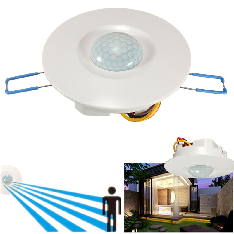 Ceiling PIR Sensor Switch Recessed PIR Infrared Human Body Induction Switch Light Control Ceiling Lamp Motion Sensor Detector sxzm pir infrared motion sensor switch human body induction save energy motion automatic led module light sensing switch