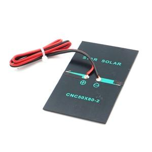 Image 2 - 2 в 300 мА с удлинительным кабелем 30 см, солнечная панель, поликристаллический кремний, DIY модуль зарядного устройства для аккумулятора, миниатюрный провод для солнечной батареи, игрушка