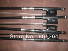 4pcs of composit violin bow 4/.4(two black horse hair and two white bow hair)