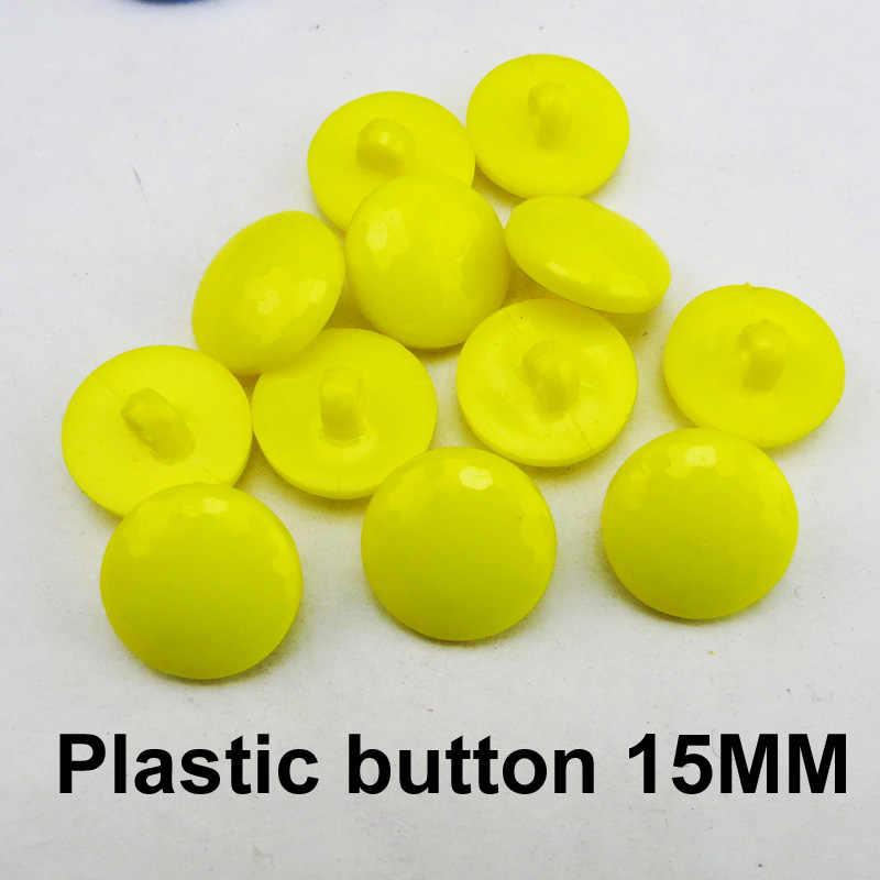 50 ADET sarı NOKTA plastik düğmeler 15 MM ceket bot dikiş giysi aksesuarı giysi düğmesi P-269