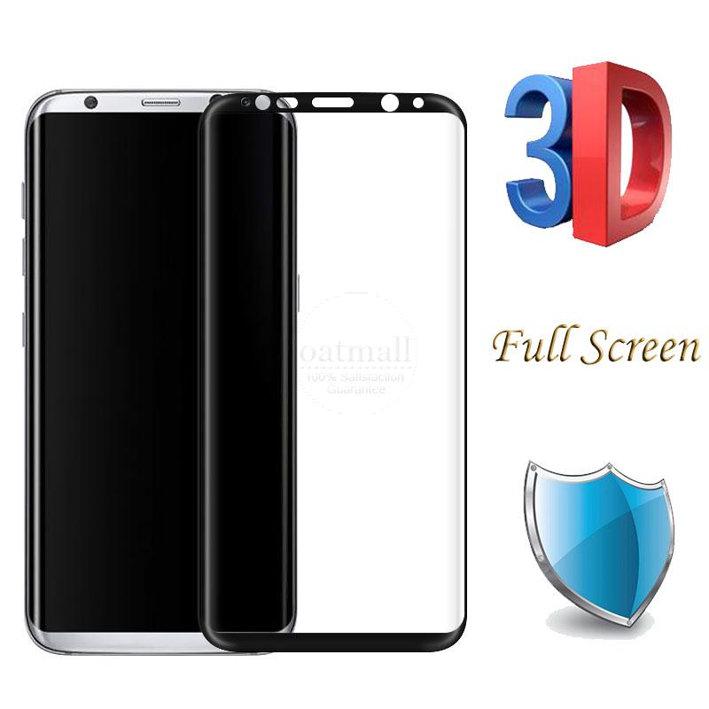 0.26mm Full Screen 3D Curved surface Tempered Glass Film For Samsung Galaxy S8 Glass Screen Protector For Samsung S8 Plus Saver